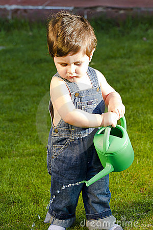 Little baby gardener