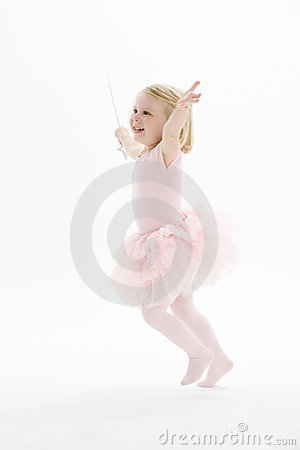 Free Little Ballerina Dancing Royalty Free Stock Photos - 12406788