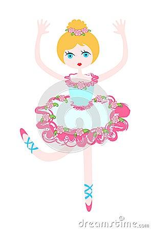 Little ballerina in rose