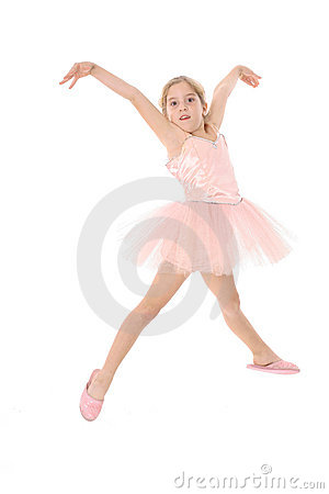 Little ballet girl in the air