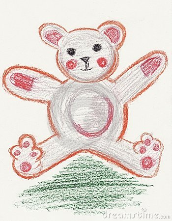 Teddy Bear toy designed with the style of a child