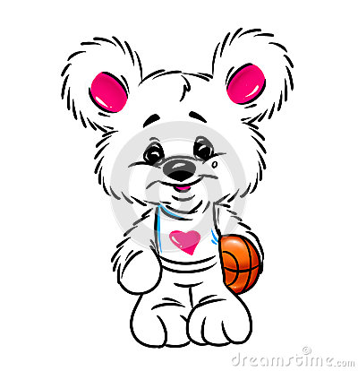 Little Bear basketball  talisman character