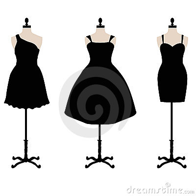 Little Black Dress Vector Stock Image - Image: 23146131