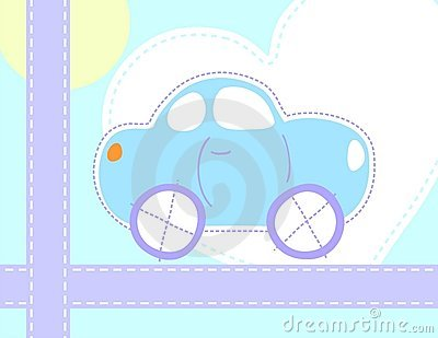 Little blue car for baby