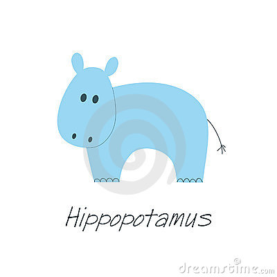 Little blue hippo