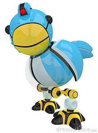 Little Blue Social Network Marketing Bird Robot