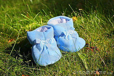 Little booties on the grass