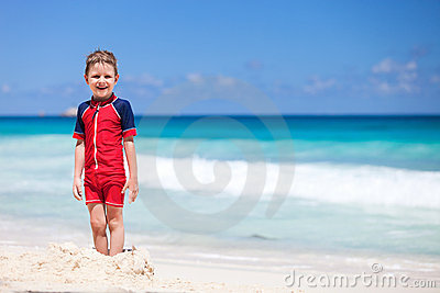 Little boy at beach