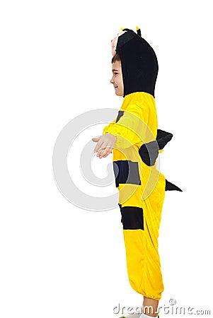 Little boy in bee costume