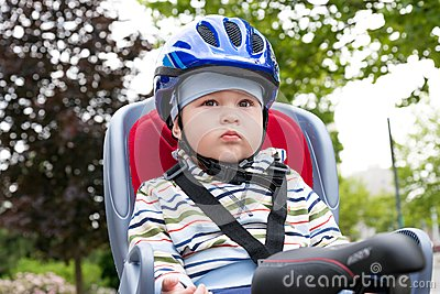 Boy with blue helmet