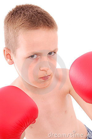 Little boy boxer