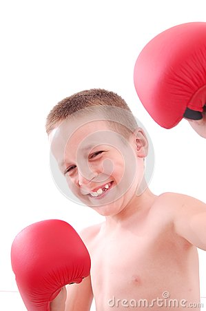 Little boy boxer
