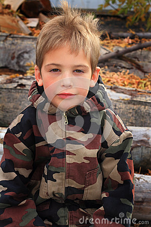 Little Boy in Camo