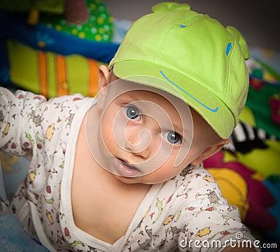 Little boy in a cap