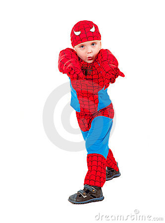 Little boy in carnival costume
