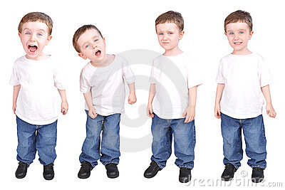 Little Boy Child Expressions of Personality