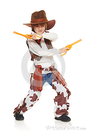Free Little Boy Cowboy Stock Photo - 46720300