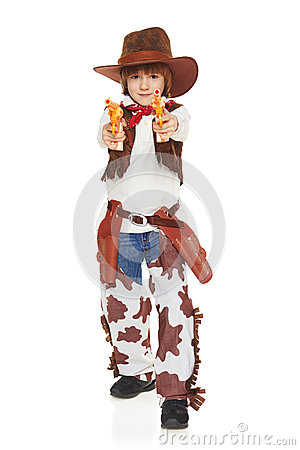 Free Little Boy Cowboy Stock Photography - 46720502