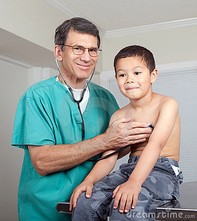 Little Boy and Doctor Medical Examination