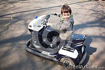 Little boy driving