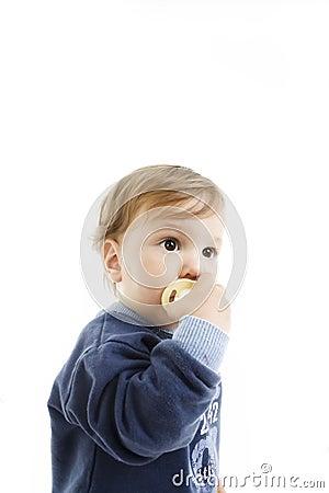 Little boy with dummy
