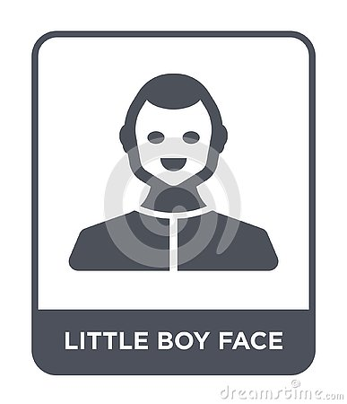 little boy face icon in trendy design style. little boy face icon isolated on white background. little boy face vector icon simple Vector Illustration