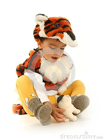 Little boy in fancy dress