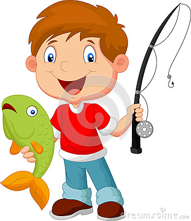Free Little Boy Fishing Royalty Free Stock Photo - 45750345