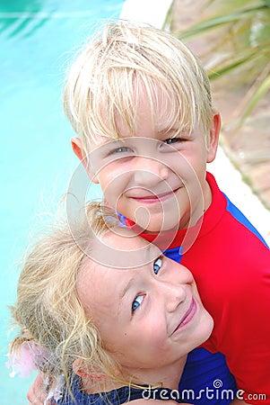 Little boy and girl best friends