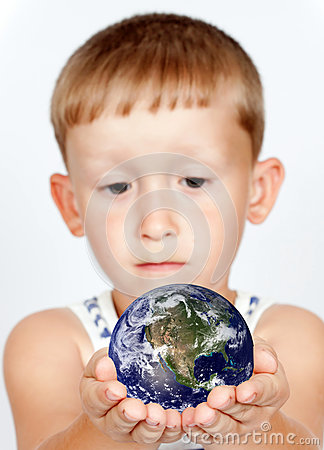 Little boy and Globe