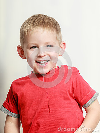 Free Little Boy Have Fun And Drool. Royalty Free Stock Images - 70714889