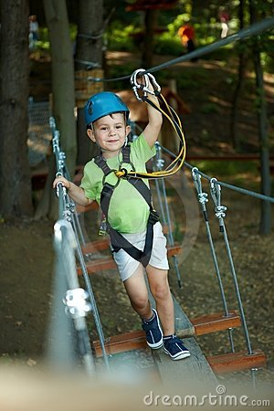 Free Little Boy In Adventure Park Stock Photos - 13505053