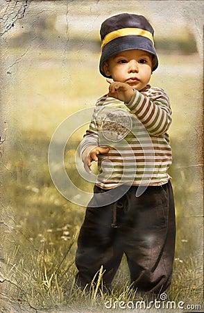 Free Little Boy In Retro Style Stock Photos - 9483853