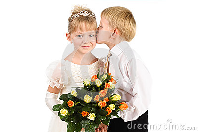 Little boy kissing a beautiful girl royalty free stock photography little boy kissing a beautiful girl royalty free stock photography thecheapjerseys Images