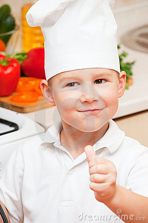 Little boy on kitchen