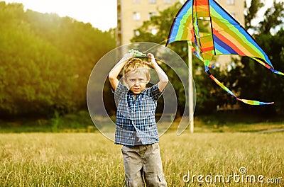 Little boy with kite