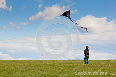 The little boy with a kite