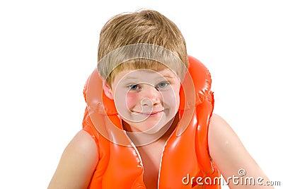 Little boy in life vest