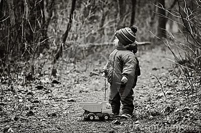 Little Boy Lost In a Forest