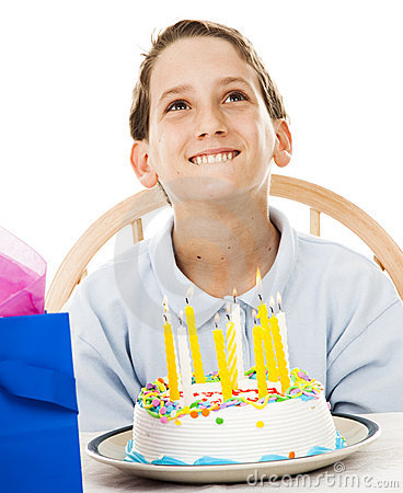 Little Boy Makes Birthday Wish