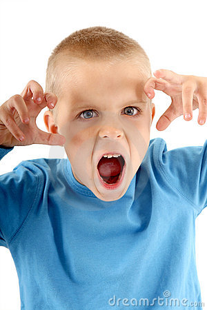 Free Little Boy Making A Silly Monster Face Royalty Free Stock Images - 4171769