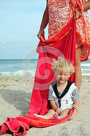 Little boy mariner