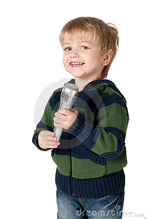 Little boy with mic