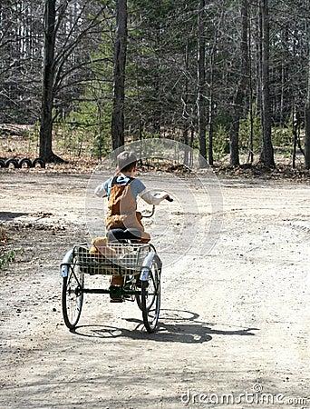 Free Little Boy On Trike Stock Image - 13718181