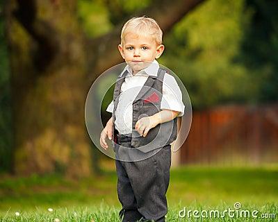 Little boy in the park