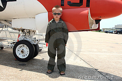 Little boy pilot