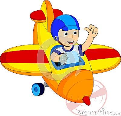 Little boy in a plane