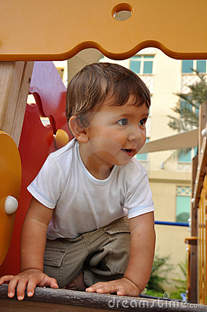 Little boy in playground