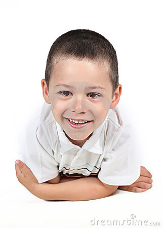 Little boy posing with smile