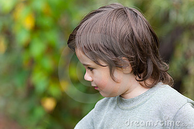 Little boy in a profile